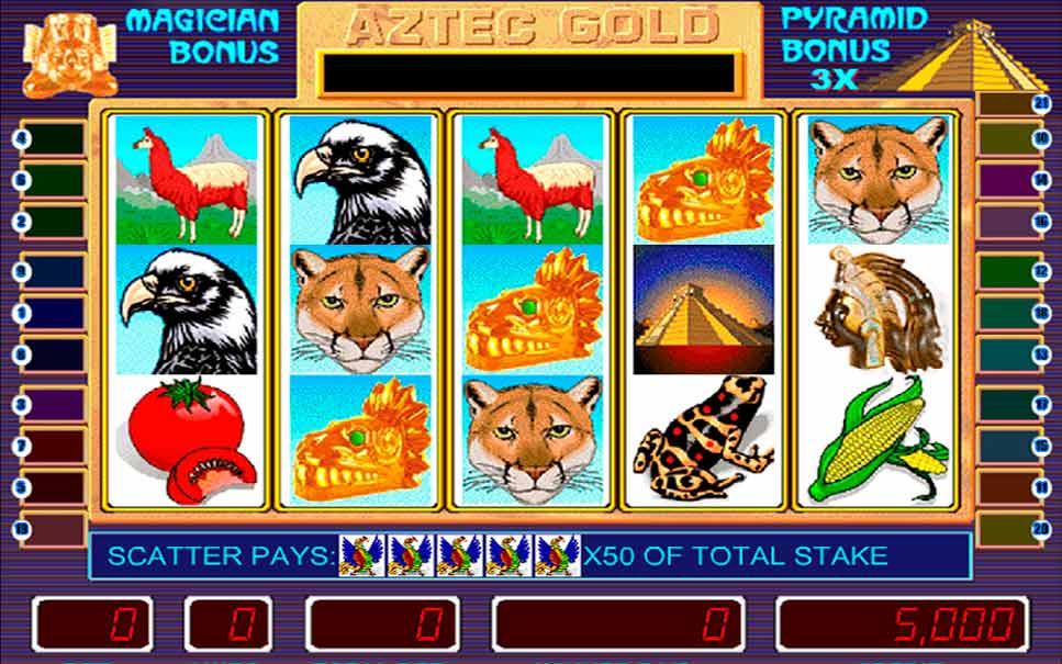 Игровые автоматы Пирамиды Aztec Gold - играть бесплатно.