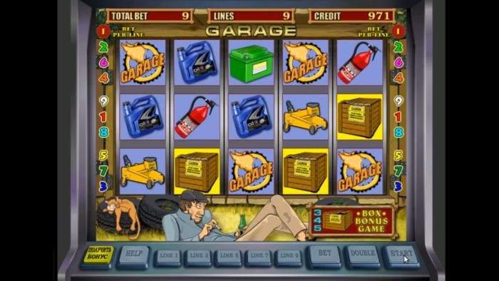 Игровой автомат Garage Гараж - играть онлайн