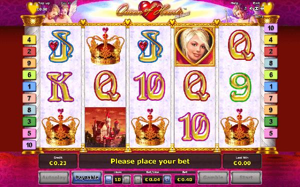 Игровой автомат Queen of Hearts Королева Сердец играть.