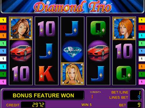 Игровой слот Diamond Trio