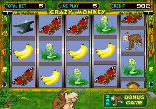 Игровой автомат Crazy Monkey Обезьянки, Крэйзи Манки.
