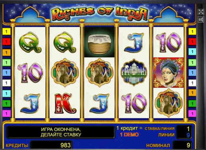 Игровой автомат Riches of India играть бесплатно без регистрации