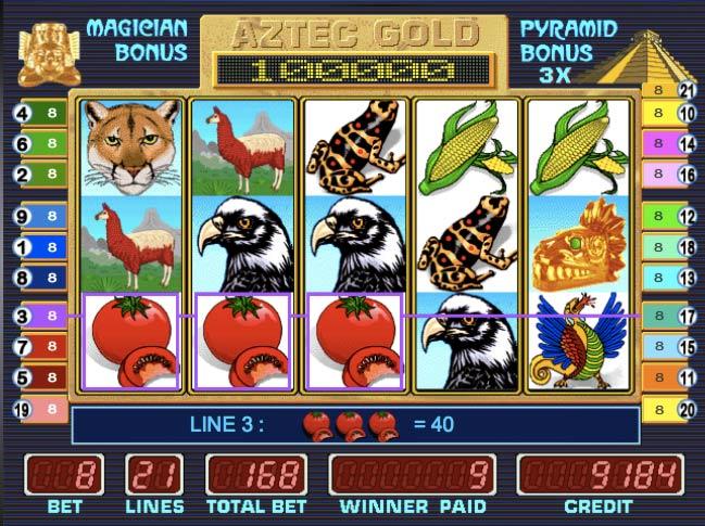 Игровой автомат Пирамида играть бесплатно онлайн в слот Aztec.