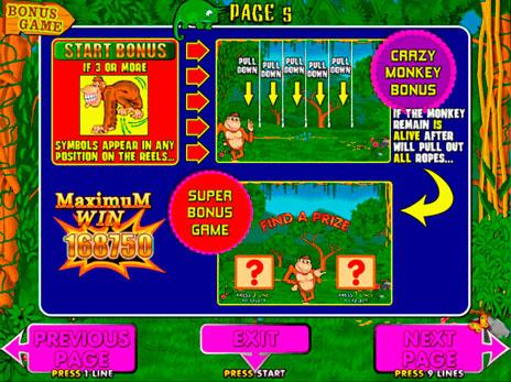 Играть в игровые автоматы crazy monkey -