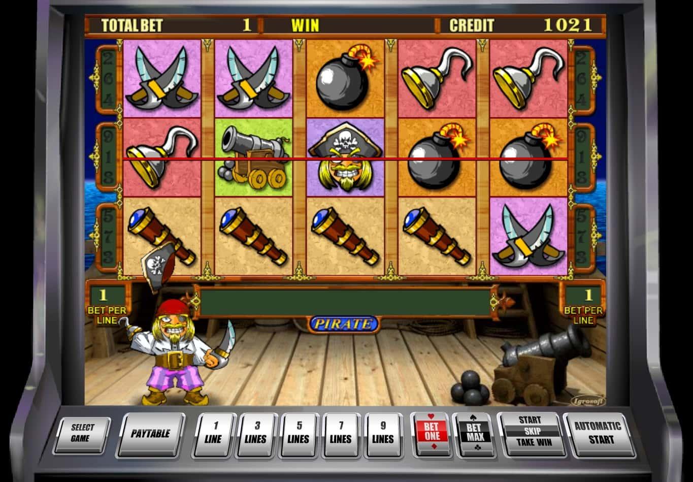 В аппараты Пират 2 можно играть на реальные деньги в клубе.