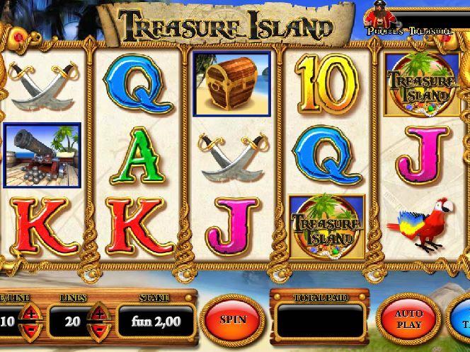 Treasure Island Остров. - Игровые автоматы на