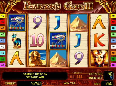 Играйте в игровой слот Pharaoh Bingo на реальные деньги