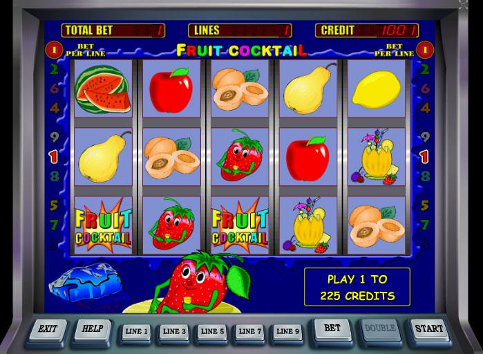 Играть игровой автомат Клубничка Fruit Cocktail бесплатно