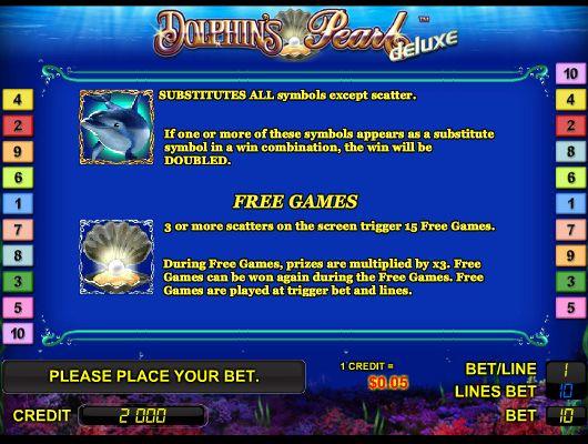 Играть в игровой автомат Dolphin's Pearl бесплатно -