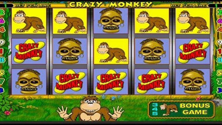 Игровой автомат Обезьянки Crazy Monkey - играть.